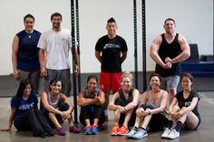 Lunch Crew! Still smiling after a 15 Min EMOM WOD of HSPU and Power Snatches.