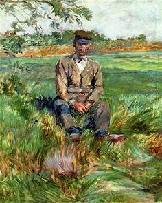 """""""A Laborer at Celeyran"""" -- 1882 -- Henri de Toulouse-Lautrec -- French -- Oil on canvas -- Musée Toulouse-Lautrec."""