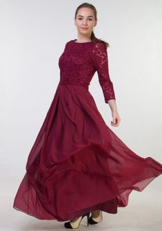 b1efd16ef8c0 Chiffon Bridesmaid Dress A-Line/Princess Bateau Long/Floor-Length With Lace