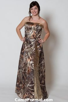 Camo n sequins :) Love it!!! Wish i had somewhere to wear my camo prom dress again. lol