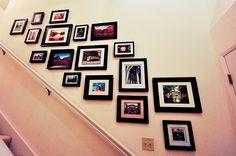 Staircase collage of photos.