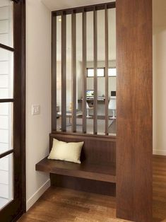 Entry furniture ideas contemporary entryway furniture contemporary foyer bench entryway bench ideas entry contemporary with on . Living Room Divider, Room Divider Walls, Diy Room Divider, Room Dividers, Divider Ideas, Entry Furniture, Wooden Furniture, Furniture Ideas, Inside A House