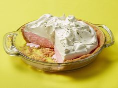 Frozen Strawberry Daiquiri Pie : This boozy frozen pie has all the makings of the fruity summer drink. Store-bought strawberry sorbet is the perfect way to achieve the texture of finely crushed ice. Creating flavor variations is as simple as switching in a new sorbet flavor.