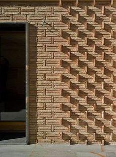 Brick Masonry, Brick Facade, Brick Design, Facade Design, Brick Architecture, Architecture Details, Parrilla Exterior, Brick Pathway, Brick Patterns Patio