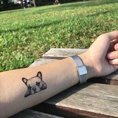 Little Pug Dog Temporary Tattoo Sticker