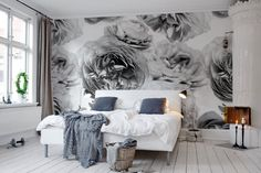 Summer Wind, Black and White | R13092 | Rebel Walls FR