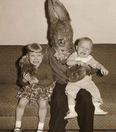 Scary Easter bunny picture.