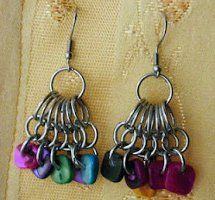 You'll shine like a gem with these Jewel Tone Cluster Earrings! These free jewelry making instructions utilize jump rings and beads in an array of rich tones to create a gorgeous pair of unique earrings.