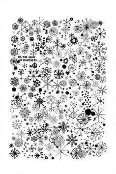 Have students add to collaborative snowflake drawing with extra time.