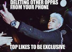 TOP (Choi Seung Hyun) ♡ Oh my goodness this seriously just made me laugh sooo hard for some reason....