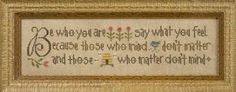 "Another great cross stitch pattern from Lizzie Kate's Dr. Seuss theme titled ""Be Who You Are"". Please note ship date range as this is a new ..."