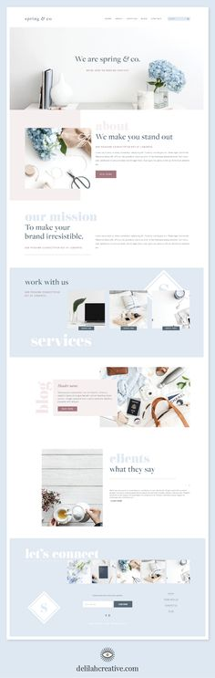Spring & Co Squarespace Website Template - Wix Website Ideas - DIY your own website with Wix. Website Design Inspiration, Website Design Layout, Design Blog, Layout Design, Design Trends, Website Designs, Design Ideas, Inspiration Fitness, Personal Website Design