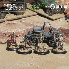 It's time to feature another competitor in the Cleric, Fighter, Wizard, Rogue Miniature Painting Tourney. Today's Ensemble Shot is submitted by Oakbound Studio and has a Post-Apocalypse theme! You can find them here: http://www.propworkshop.co.uk/oakbound/ Make sure you vote during AetherCon all weekend long to have your say on who is the best. The more you vote, the more chances you have to win! www.aethercon.com