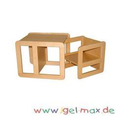 Igel-Max Versand-Kindergartenbedarf für eine fachgerechte Kinderbetreuung. Fachhandel für Kindergartenmöbel, Tagesmutter, KiTa, Kinderhort und Kinderkrippe 1 x Mehrzweckstuhl-Tisch klein Gesamtmaß: B:34 x H:34 x T:34 cm 1 x Mehrzweckstuhl-Tisch groß Gesamtmaß: B:40 x H:50 x T:40 cm Ideal geeignet für Arztpraxen oder Warteräume Artikel zusammengebaut keine Montage notwendig Montage, Site, Shelves, Home Decor, Nursery Chairs, Doctor Office, Childcare, Wooden Desk, Stools