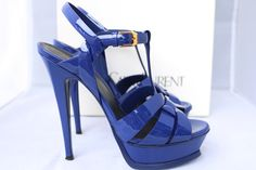 Saint Laurent Ysl Tribute Platform 105 Royal Cobalt Pumps 37 Blue Sandals. Get the must-have sandals of this season! These Saint Laurent Ysl Tribute Platform 105 Royal Cobalt Pumps 37 Blue Sandals are a top 10 member favorite on Tradesy. Save on yours before they're sold out!