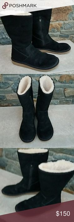 Ugg fairfax tall  boots Inside zipper, shearling lined, suede upper, size us9/eu40, great condition!! UGG Shoes