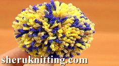 YARN POMPOM MAKING http://sheruknitting.com/videos-about-knitting/crochet-elements-and-projects/item/642-yarn-pompom-making.html  Tutorial 12 Method 5 of 8. Create a wide variety of pom poms to embellish your crochet or knitting projects, or make pompoms for home decoration items. This tutorial demonstrates how to make a pompom on pompom making set which consists of 4 pieces.