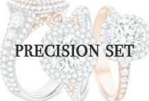 Precision Set Designer diamond engagement rings and wedding bands are available at Oster Jewelers and at osterjewelers.com