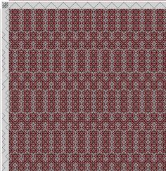 draft image: Threading Draft from Divisional Profile, Tieup: 16 Harness Patterns - The Fanciest Twills of All, Draft #34703, 16S, 16T