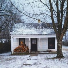 "oldfarmhouse:  "" December 1st-❄  First Day of Winter  Photocredit: Pinterest.com  """