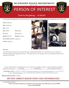 CREDIT CARD FRAUD: If you have any information about this case, please contact Detective W. Yeargin at (678) 382-6916 or william.yeargin@dunwoodyga.gov (LS) #dunwoodypolice