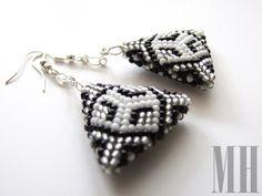 Kolczyki trojkątne | MH Biżuteria - cuda ręcznie wykonane