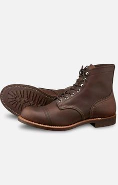 Iron Ranger 6-Inch Cap Toe Amber They take a while to break in but after break in, they feels like socks with a sole. These shoes moulds to your foot perfectly if you pick the right size. Also they are very easy to condition. Red Wing Iron Ranger, Shoe Molding, Oxblood, 6 Inches, Combat Boots, Amber, Feels, Take That, Socks