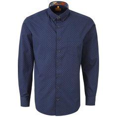 """Ανδρικό Πουκάμισο """"Ding Conection"""" Redmond 100% Βαμβάκι  Non Iron Denim Button Up, Button Up Shirts, Cotton Shirts For Men, Shirt Dress, Easy, Sweaters, Mens Tops, Collection, Dresses"""