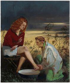 Neo Rauch  Die Gunst      2011  Oil on canvas  60 x 50 cm