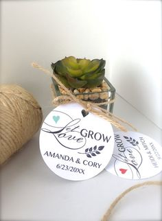 Wedding favor tags Let love grow tags seeds by PaperLovePrints