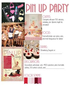 Pin Up Party/1950's Housewife Bachelorette Theme