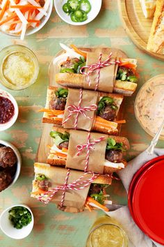 Spicy Meatball Banh Mi Sandwiches