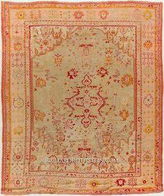 "Oushak Oriental Rug Size: 11' 3"" x 13' 9"""