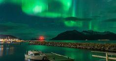 Auroras boreales y la Luna desde Abisko, Suecia | El Universo Hoy