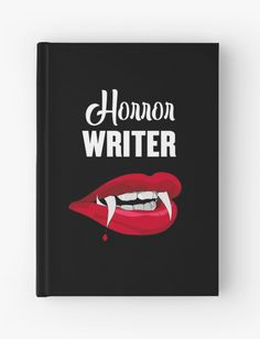Spooky, thrilling, hardcover journal notebook for horror authors. Perfect for writing a novel, short story, or even a screenplay. Great gift for aspiring writers. Authors, Writers, Vampire Fangs, Fiction Writing, Journal Notebook, Short Stories, Thriller, Writing Journals, Horror