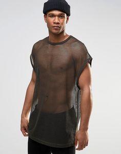 Image 1 of ASOS Super Oversized T-Shirt In Mesh