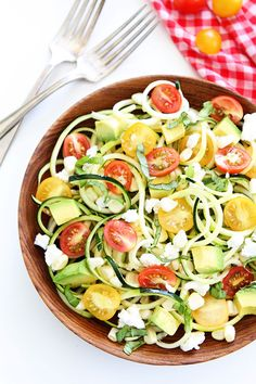 Summer Zucchini Noodle Salad