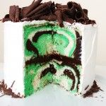 A Gorgeous St. Patrick's Day Mint Chocolate Cake!