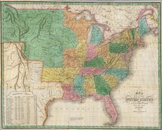 1827 Map of the United States