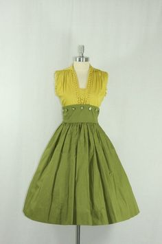 1950's Cotton Summer Dress by vivian