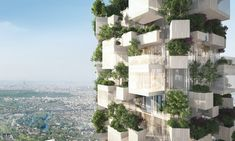 Stefano Boeri Architetti have revealed renderings of their designs for Forêt Blanche, a 54-meter-tall mixed-use Vertical Forest tower in Paris.