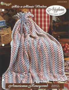 🐟 Crochê Listra da Herança Padrão Afegão casa por itens decorativos Malha Criações -  /  🐟  Crochet Stripe Heirloom Afghan Pattern Home by Knit Knacks Creations -