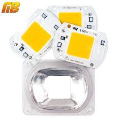 [MingBen] LED COB Lamp Chip LED Lens Reflector 230V 220V 20W 30W 50W  Smart IC DIY For LED Flood Light Need Heatsink for Cooling  Price: 4.03 USD
