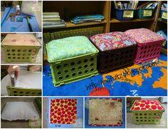 Milk Crate Seats!