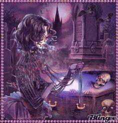 Good Night Halloween Gif, Halloween Horror, Halloween Ideas, Gif Bonito, Emo, Illusion Photos, Gif Art, Skull Wallpaper, Good Night Sweet Dreams