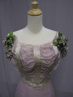 4 1904 Lavender Cotton Silk Ribbon Debutante Ball Gown | eBay