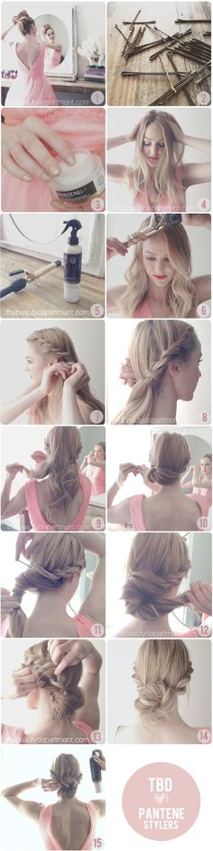 Long luscious hair/ How to master the rope braid chignon with a little help from Pantene's new Stylers line!