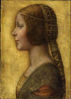 Leonardo Da Vinci's La Bella Principessa in the throne room of the Palazzo Ducale in Urbino, Italy