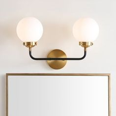 Shop for Caleb Brass Wall Sconce, Brass Gold/Black by JONATHAN Y. Get free delivery at Overstock - Your Online Wall Lighting Store! Get in rewards with Club O! Contemporary Wall Sconces, Modern Contemporary, Best Kitchen Design, Cool Floor Lamps, Globe Lights, The Ranch, Home Lighting, Lighting Store, Interior Lighting