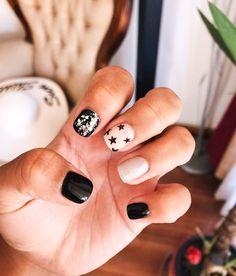 Cute Acrylic Nails, Cute Nails, Hair And Nails, My Nails, Star Nail Designs, Art Designs, Manicure Gel, Gel Nagel Design, Short Gel Nails